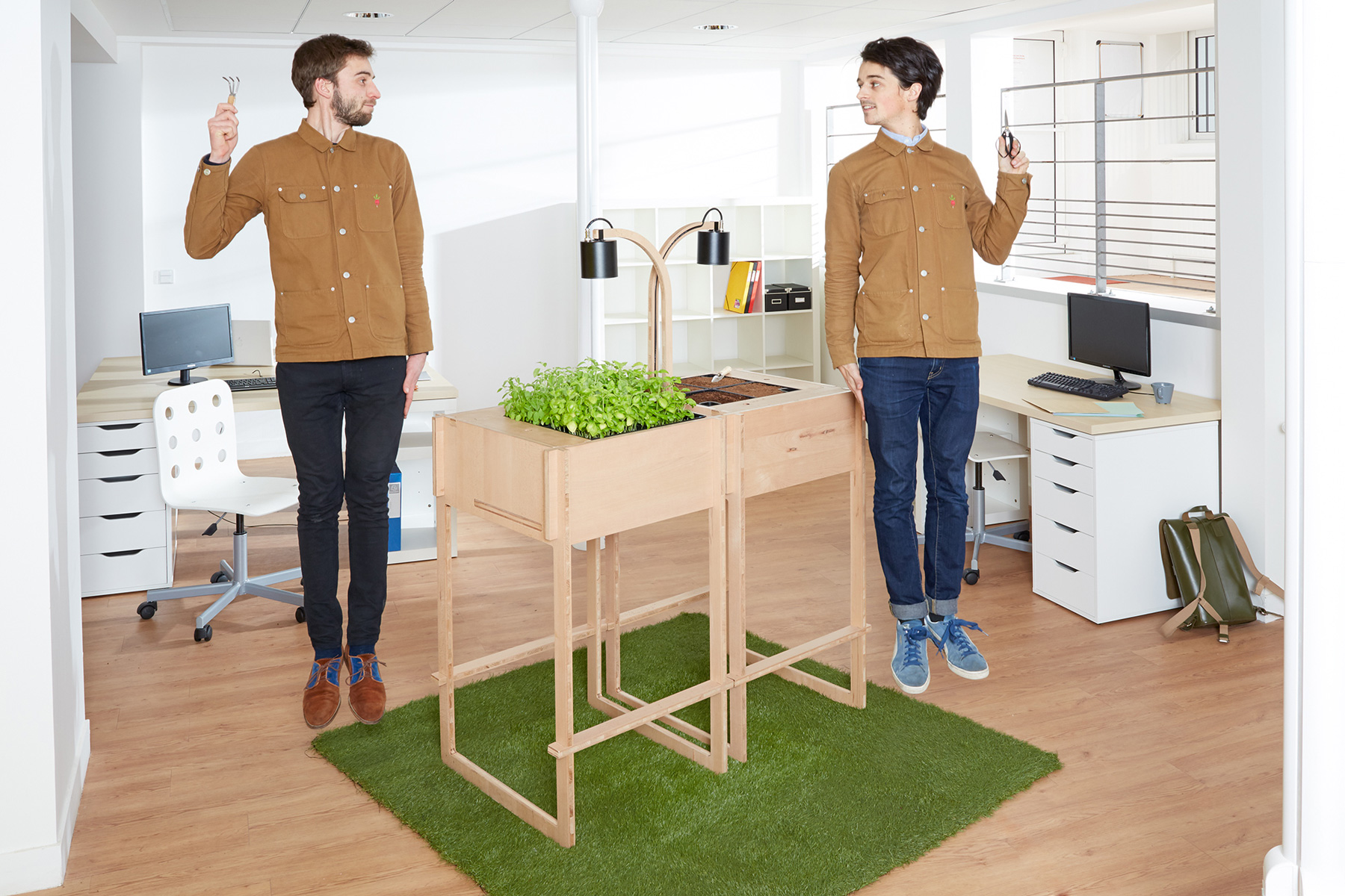 ciel mon radis l 39 atelier de jardinage dans vos bureaux. Black Bedroom Furniture Sets. Home Design Ideas